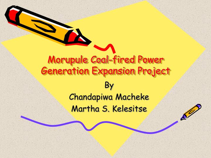 morupule coal fired power generation expansion project n.