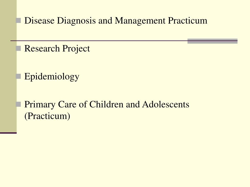 Disease Diagnosis and Management Practicum