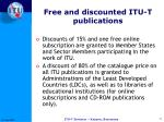 free and discounted itu t publications