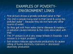 examples of poverty environment links