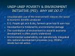 undp unep poverty environment initiative pei why we do it
