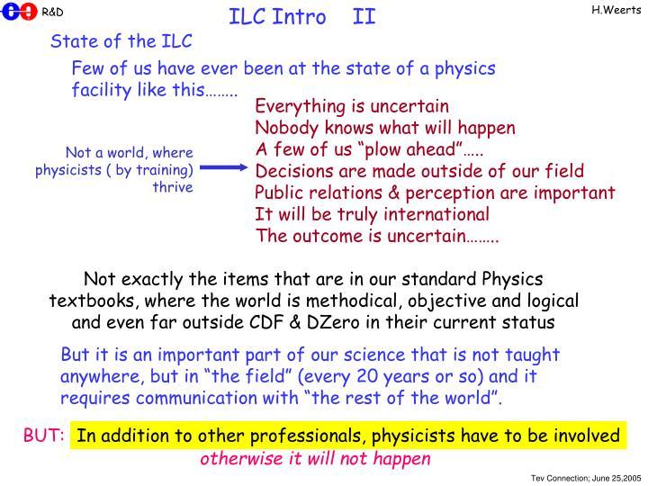 ILC Intro    II