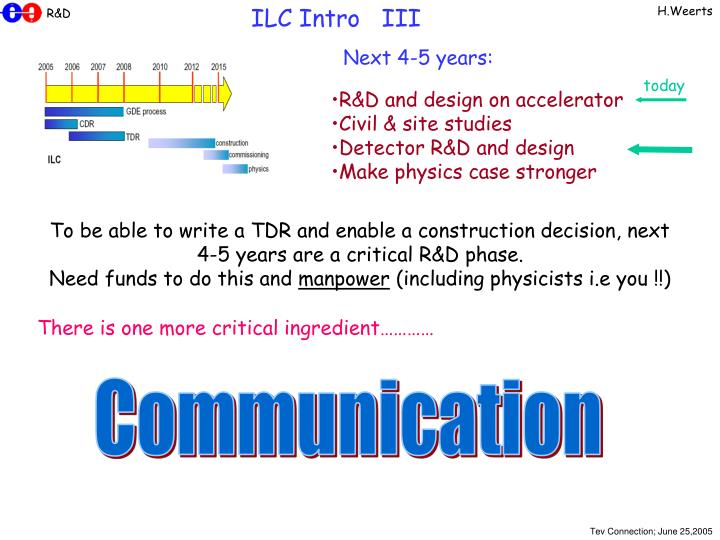 ILC Intro   III