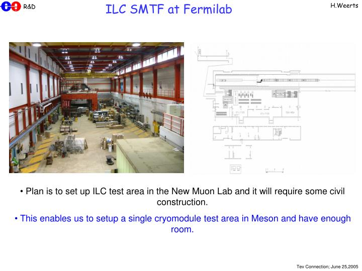 ILC SMTF at Fermilab
