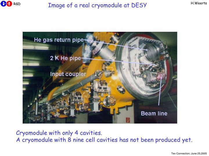 Image of a real cryomodule at DESY