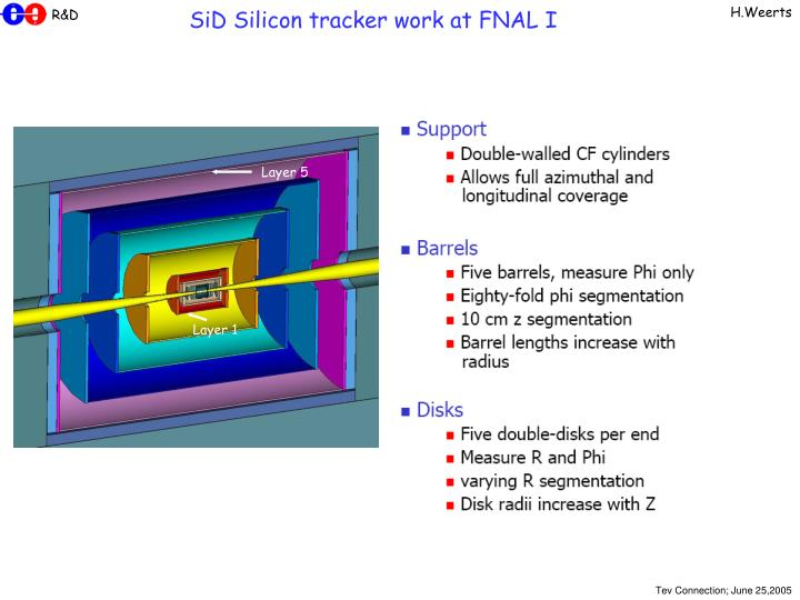 SiD Silicon tracker work at FNAL I