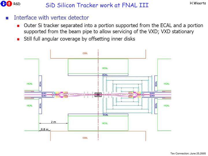 SiD Silicon Tracker work at FNAL III