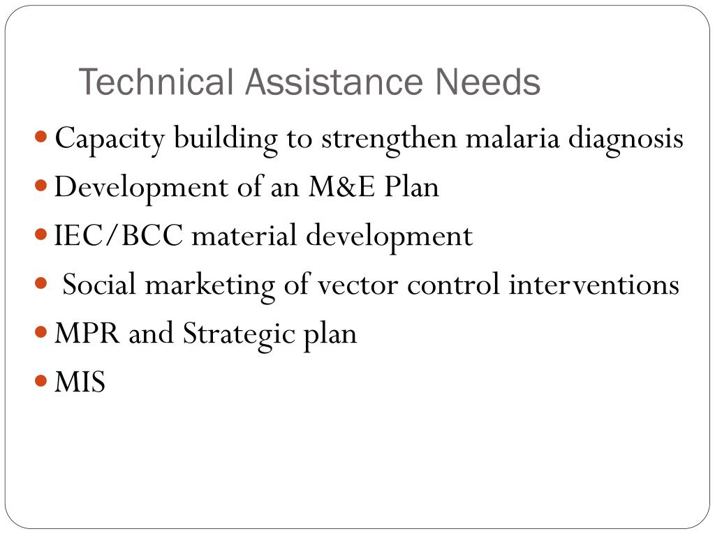 Technical Assistance Needs