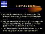 botswana issues contd