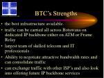 btc s strengths