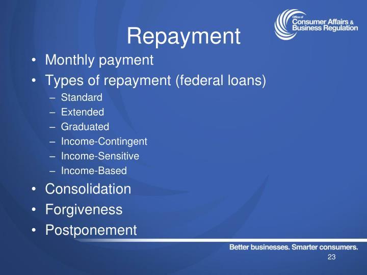 Repayment