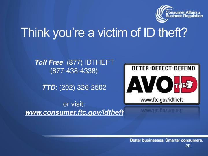 Think you're a victim of ID theft?