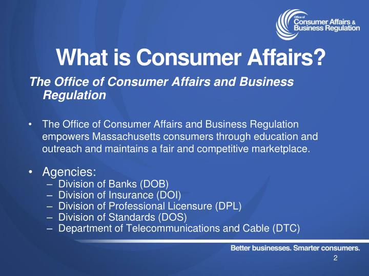 What is consumer affairs