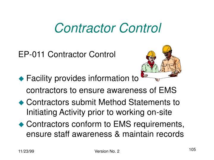 Contractor Control