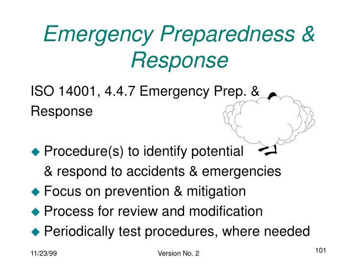 Emergency Preparedness & Response