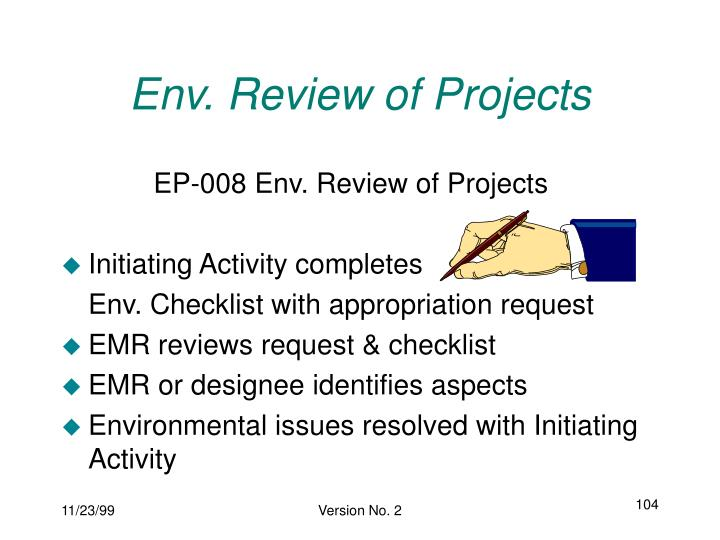 Env. Review of Projects