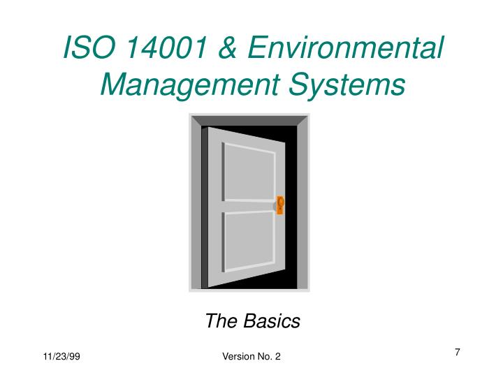 ISO 14001 & Environmental Management Systems