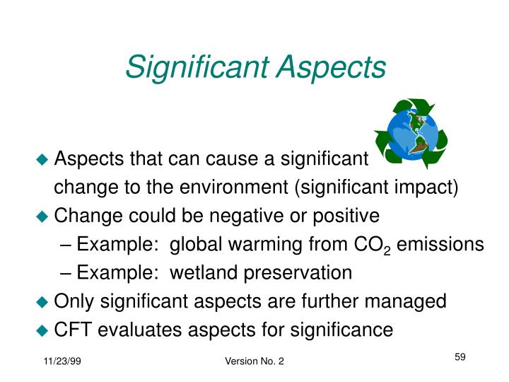Significant Aspects