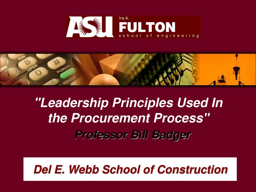 """Leadership Principles Used In the Procurement Process"""