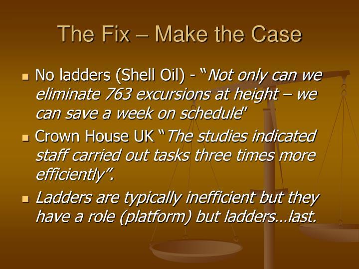 The Fix – Make the Case