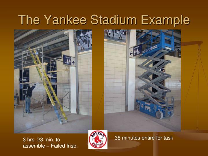 The Yankee Stadium Example