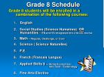 grade 8 schedule14