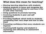 what does this mean for teaching