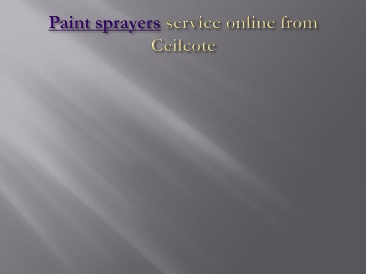 paint sprayers service online from ceilcote n.