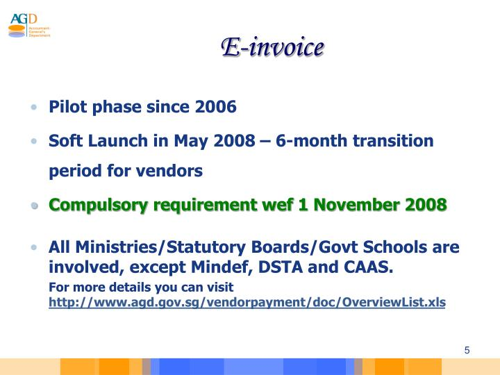 PPT Briefing On Submission Of Electronic Invoice To Government - Online invoice wef