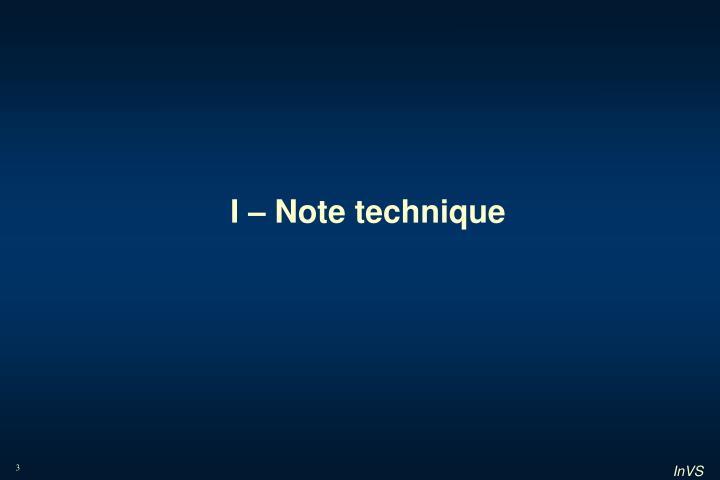 I note technique