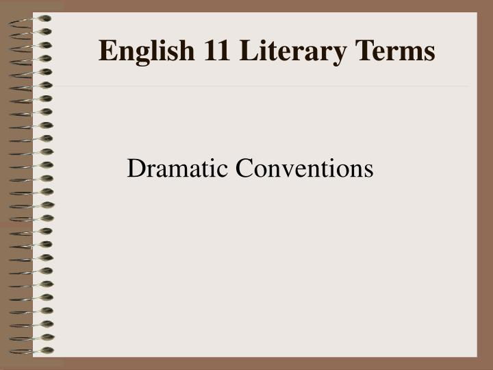 English 11 Literary Terms