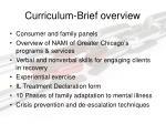 curriculum brief overview