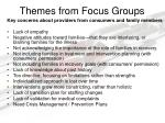 themes from focus groups
