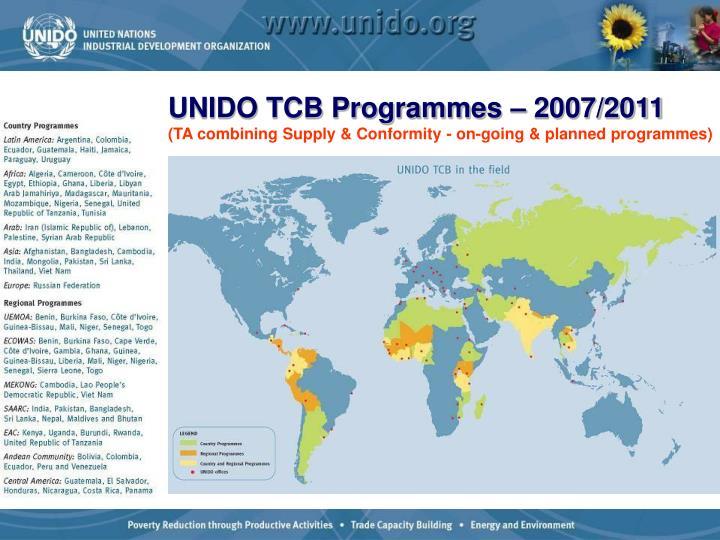 UNIDO TCB Programmes – 2007/2011