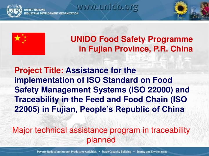 UNIDO Food Safety Programme