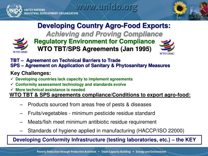 Developing Country Agro-Food Exports: