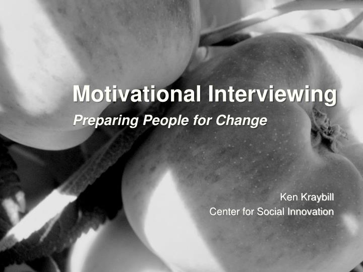 motivational interviewing preparing people for change n.