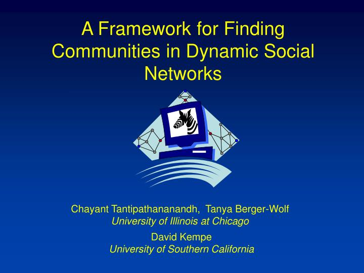 a framework for finding communities in dynamic social networks n.