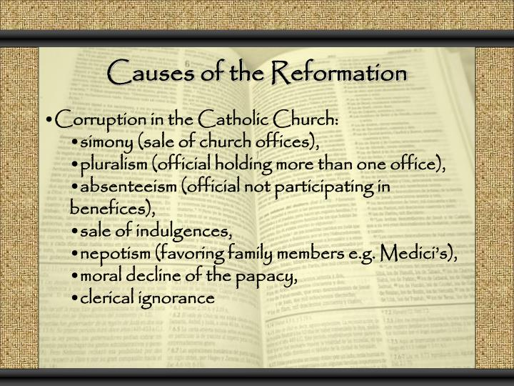 a comparison of the catholic reformation and the protestant reformation Curing the reformation, the catholic and protestant churches showed distinctly different doctrines and beliefs, as reflected by the aesthetics of their respective churches the catholics believed in 7 sacraments, veneration of saints and elaborate church construction.