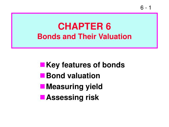 chapter 6 bonds and their valuation n.