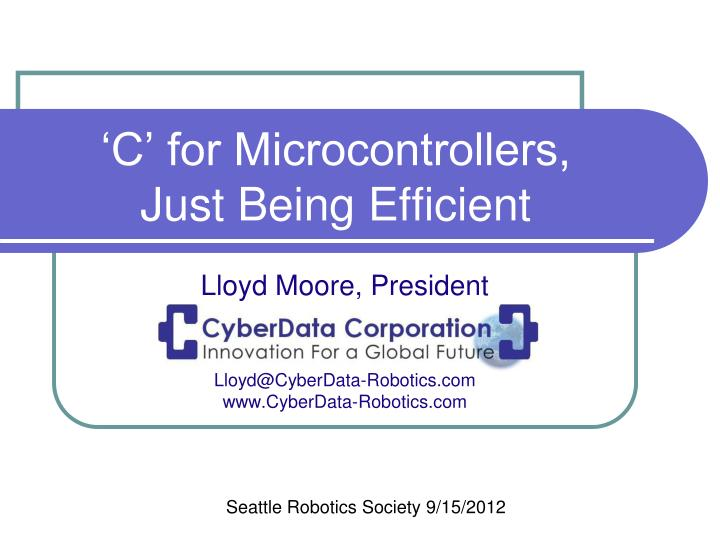 c for microcontrollers just being efficient n.