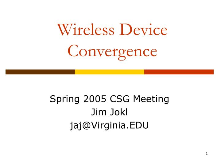 wireless device convergence n.