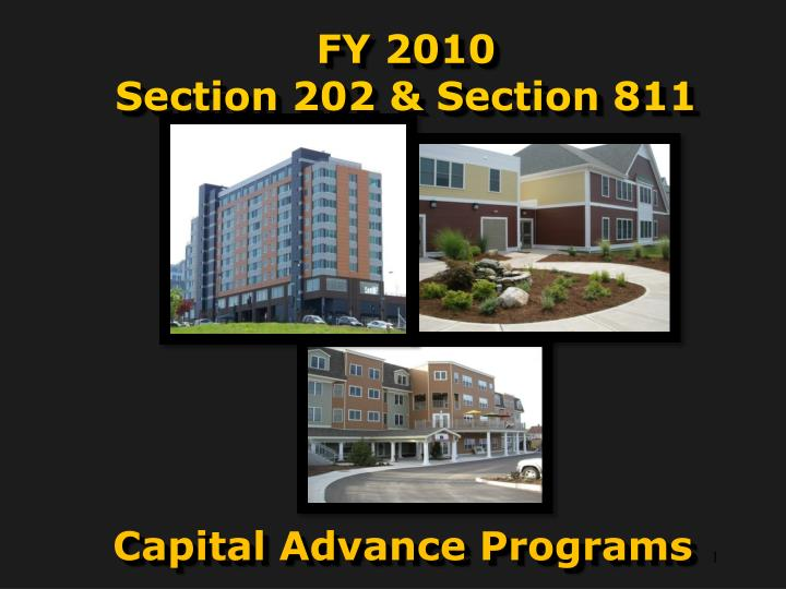 fy 2010 section 202 section 811 n.