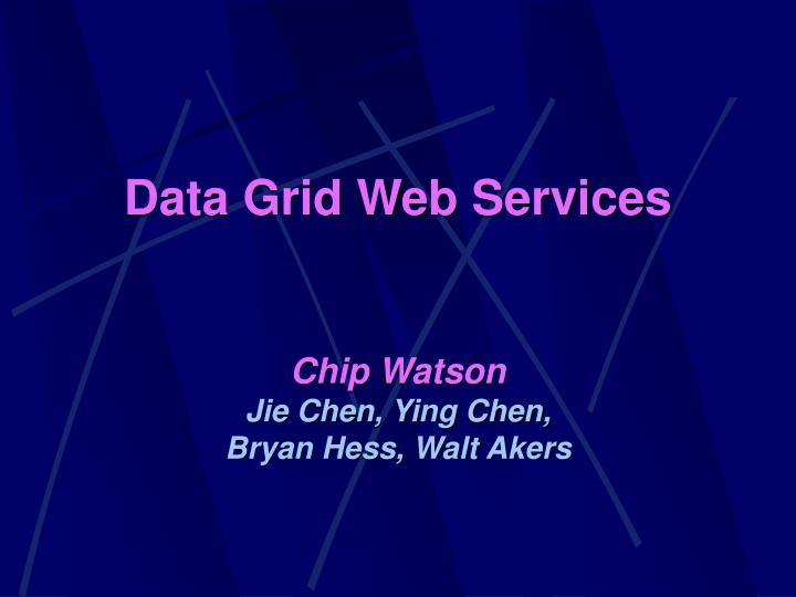 data grid web services n.