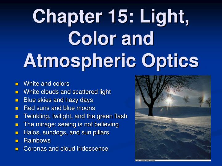 chapter 15 light color and atmospheric optics n.