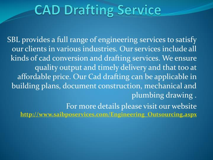 CAD Drafting Service