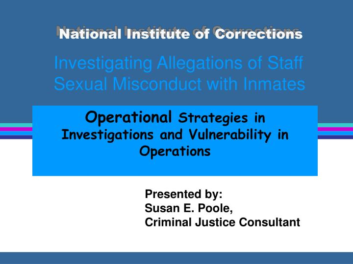 national institute of corrections n.