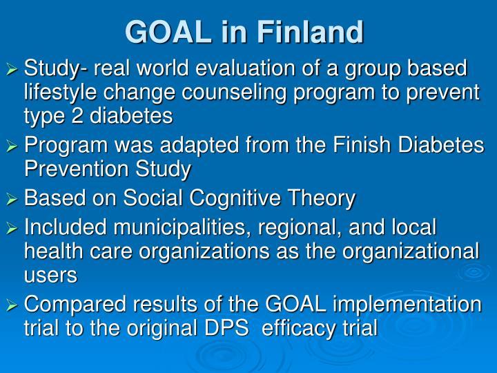 GOAL in Finland