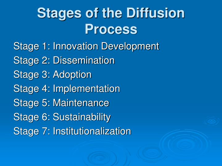 Stages of the Diffusion Process