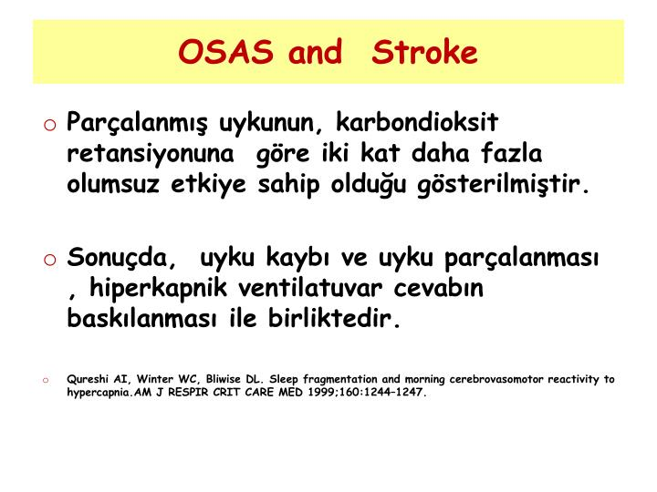 OSAS and  Stroke
